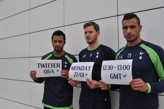 Tottenham houdt interview met Belgen op Twitter