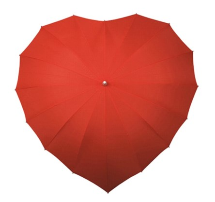 Paraplu hart rood, trouwboetiek.nl, € 22,95