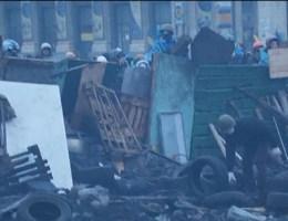 Spanning is om te snijden in Kiev