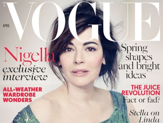 Nigella Lawson draagt amper make-up op cover van Vogue