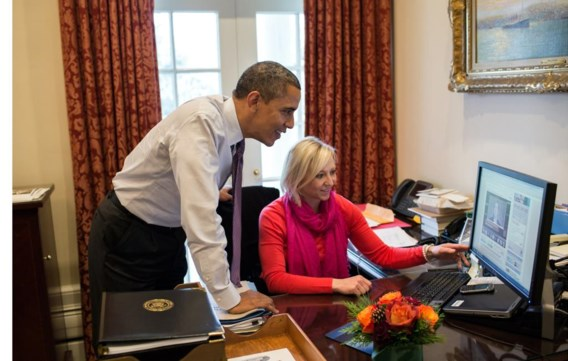 Ook als je hem niet ziet, kijkt Obama soms mee.