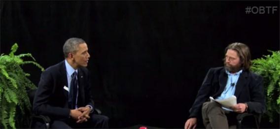 Obama geïnterviewd in komische cultwebshow