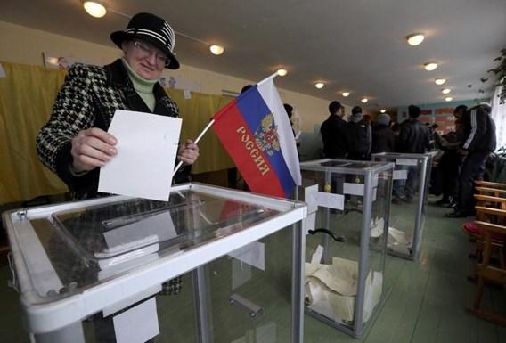 Meer dan 95 procent van de Krim kiest voor aanhechting bij Rusland