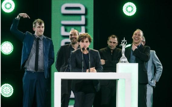 Het team achter 'De ideale wereld': Jonas Geirnaert, Otto-Jan Ham, Jelle De Beule, Luc Haekens en Jan Eelen.