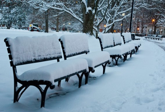 Sneeuw in plaats van lente aan Amerikaanse oostkust