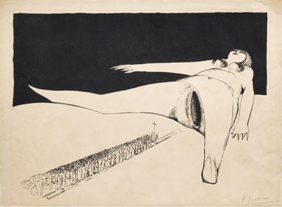 Paul Joostens, 'La procession' uit de reeks 'Les mollusques', ca. 1925.