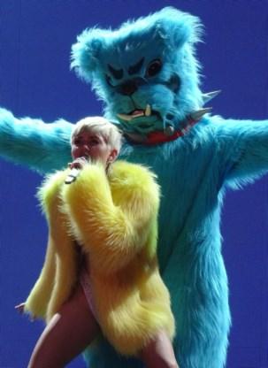 Miley Cyrus en Wayne Coyne van Flaming Lips.