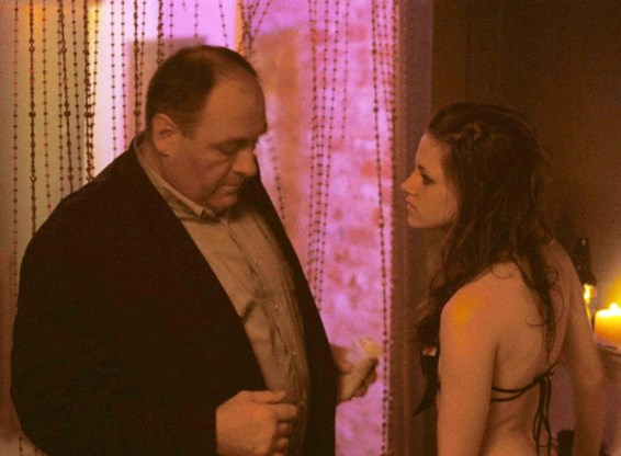 James Gandolfini en Kristen Stewart in 'Welcome to the Rileys'.