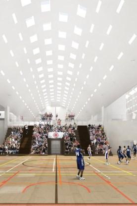 Het nieuwe sportcomplex komt naast de huidige sporthal.