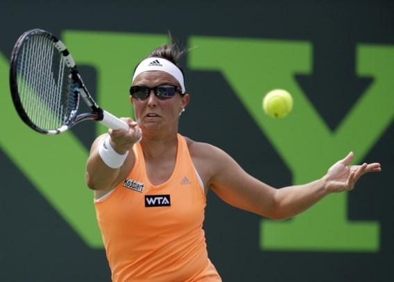 Flipkens strijdend ten onder tegen Sharapova