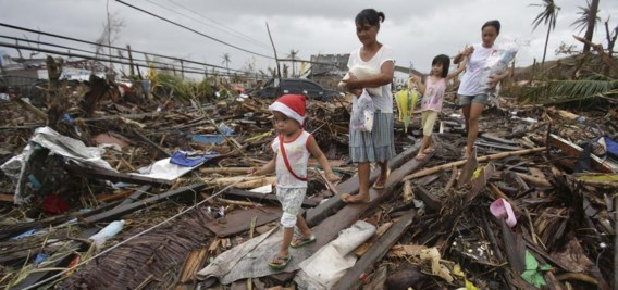De tyfoon Haiyan, die eind vorig jaar toesloeg op de Filipijnen, kostte 7.500 mensen het leven.
