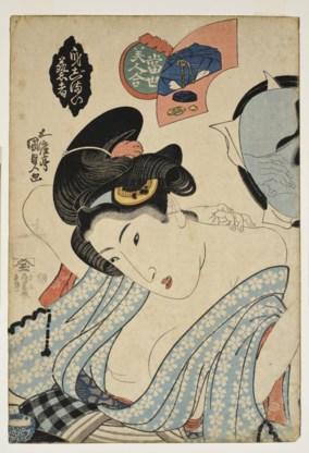 Een voorbeeld van de Japanse prentkunst 'ukiyo-e'.