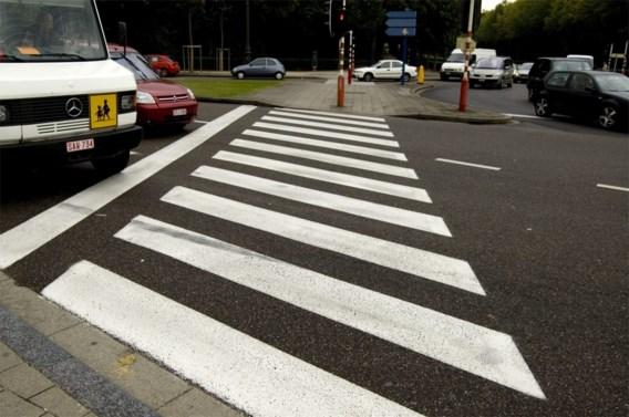 Oplichtend zebrapad uitgetest in Brussel