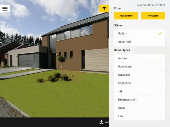Inspiratie-app voor (ver)bouwers