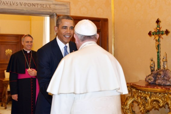 Obama ontmoet paus in Rome