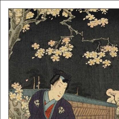 Een negentiende-eeuws tafereel uit 'Het verhaal van Genji'.