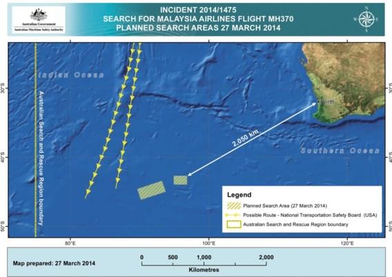 'Driehonderd objecten gezien in Indische Oceaan'