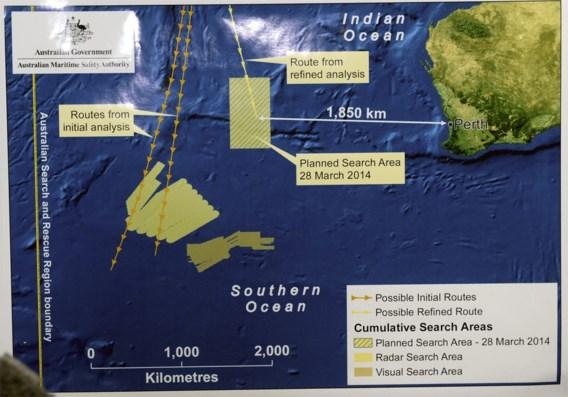 'Objecten waargenomen' in nieuw zoekgebied vermiste Boeing