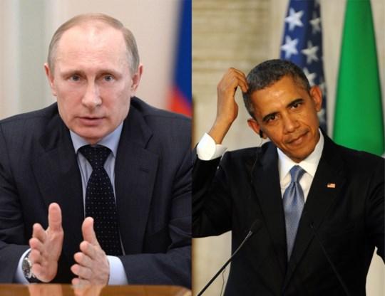 Poetin belt met Obama