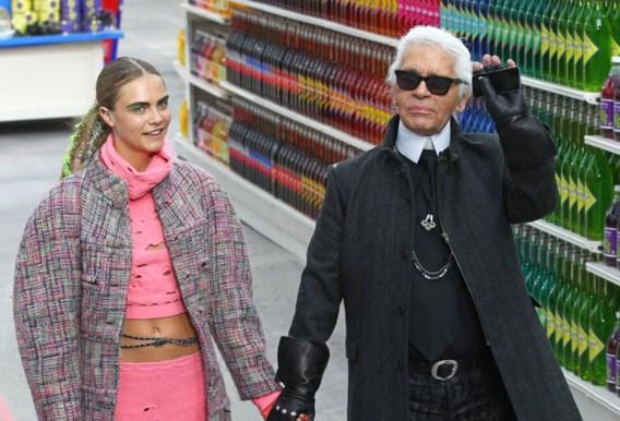 Karl Lagerfeld niet mals voor Cara Delevingne