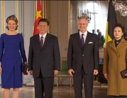 Chinese president aangekomen in België