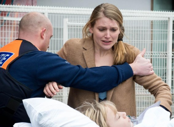 Charlotte Vandermeersch als Marianne in 'Deadline 25/5'.
