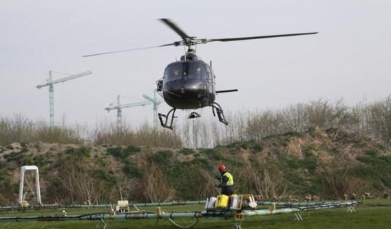 De helikopter die de metingen uitvoert, werd speciaal uit Duitsland overgevlogen. Resultaten worden verwacht eind juni.