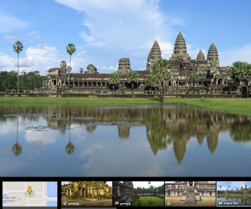 Bewonder Angkor Wat op Google Street View