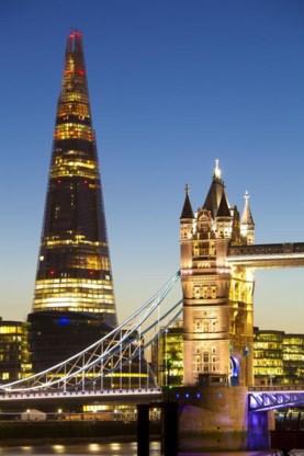 Klassiekers zoals de Tower Bridge vallen in het niet naast nieuwe toppers als de Scherf.