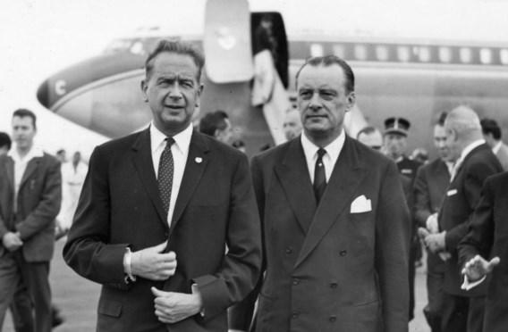 Dag Hammarskjöld (l.) stierf in 1961 in een vliegtuigcrash.