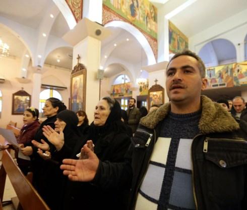 Syrische christenen in Maalula, op 50 kilometer ten noorden van Damascus,