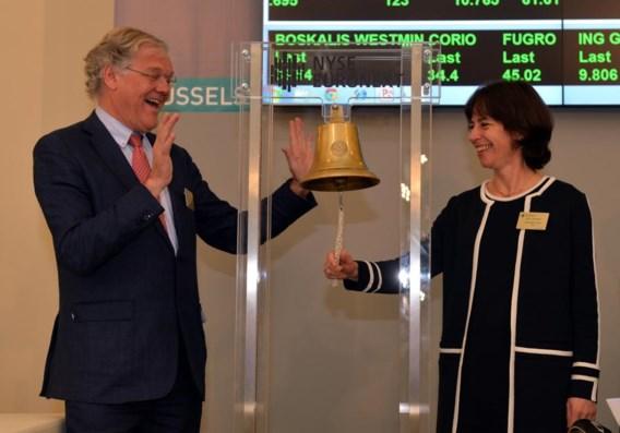 Belgacom blaast tien kaarsjes uit op Brusselse beurs