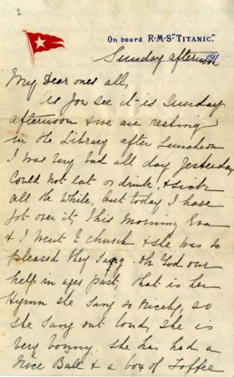 144.000 euro voor brief geschreven op Titanic