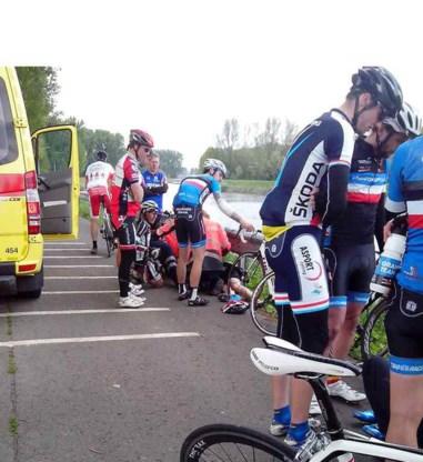 Zaterdag werden vijf fietsers naar het ziekenhuis afgevoerd.