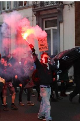 De betogers zijn tegen GAS-boetes.