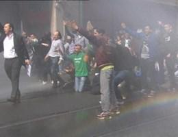 Waterkanon stopt betoging Anderlecht