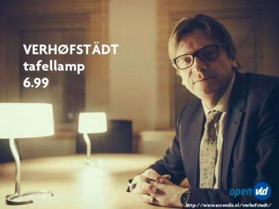 Nederlanders lachen met Verhofstadt