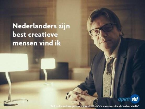 Verhofstadt: 'Nederlanders zijn best creatieve mensen'
