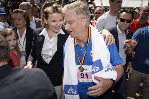 Koning Filip was een van de ruim 40.000 lopers. Hij haalde de finishlijn na 1.58 uur.