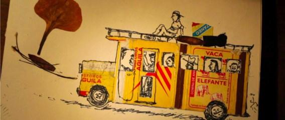Luc Vrydaghs laat zijn reisimpressies van Nicaragua ook bezinken in tekeningen en animaties.