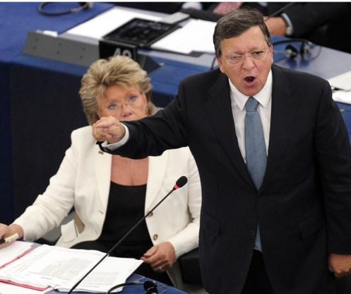 Jose Manuel Barroso met zijn laatste state of the union in het Europees Parlement.