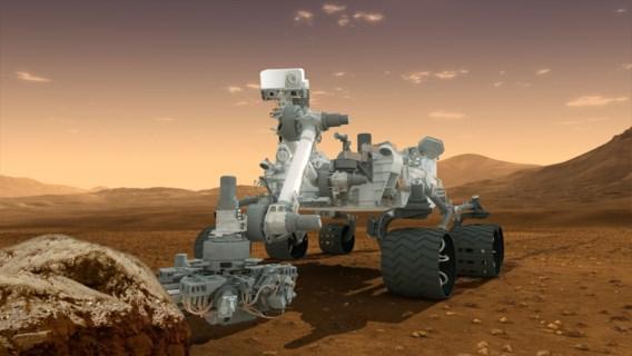 Robot Curiosity zette mogelijk aards leven op Mars