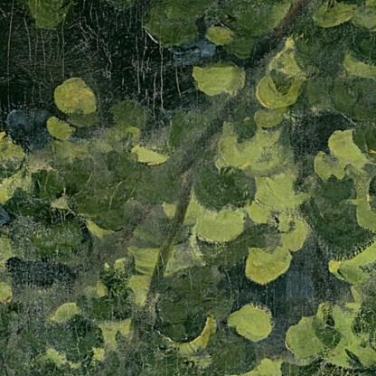 Iedereen aan de picknick. In 1865 schildert Monet, als antwoord op Manet, zijn eigen 'Déjeuner sur l'herbe'.