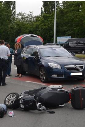 De autobestuurster was ongedeerd.
