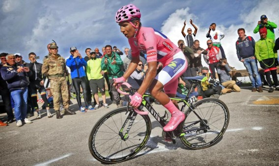 Nairo Quintana: 'Na alle heisa wilde ik bewijzen dat ik de beste ronderenner ben in deze Giro.'