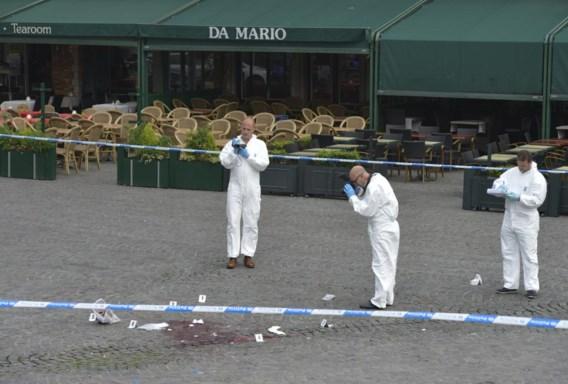 De plaats van de misdaad: de Markt in Brugge.