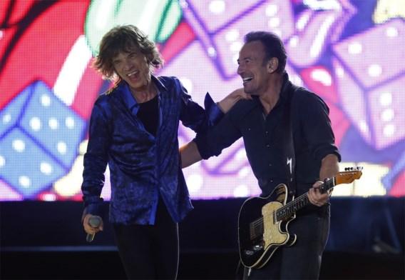Rolling Stones en Bruce Springsteen samen op het podium