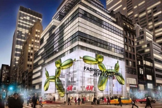 Amerikaanse kunstenaar Jeff Koons in zee met H&M