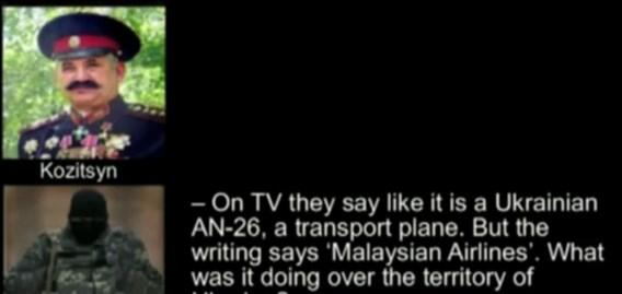AUDIO. 'Rebellen telefoneren elkaar over tragische vergissing met vlucht MH17'