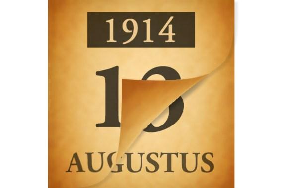 Wat gebeurde er op 13 augustus 1914?